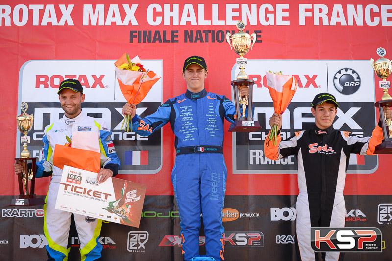 Renaudin, vainqueur en Rotax Max devant Fourquemin