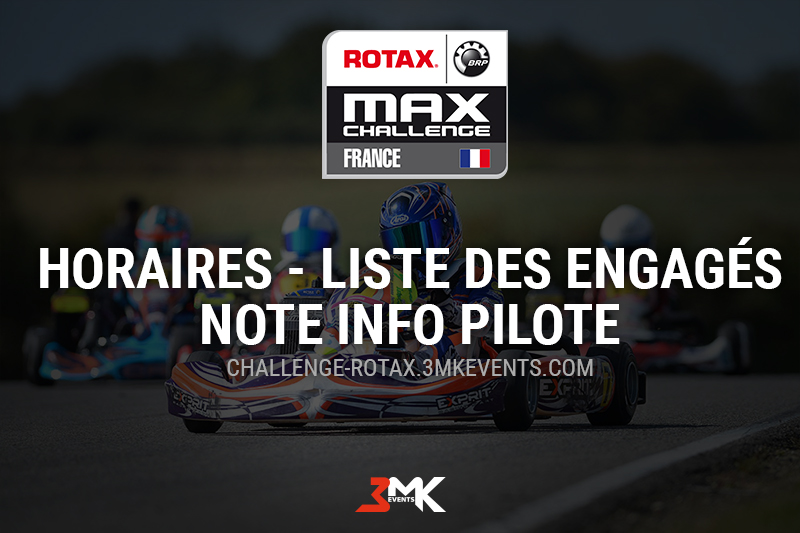 Challenge Rotax France 2017 : Les infos