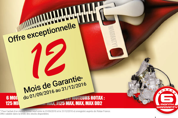 Offre spéciale Rotax - garantie 12 mois