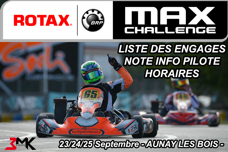 CHALLENGE ROTAX FRANCE 2016 : LES INFOS